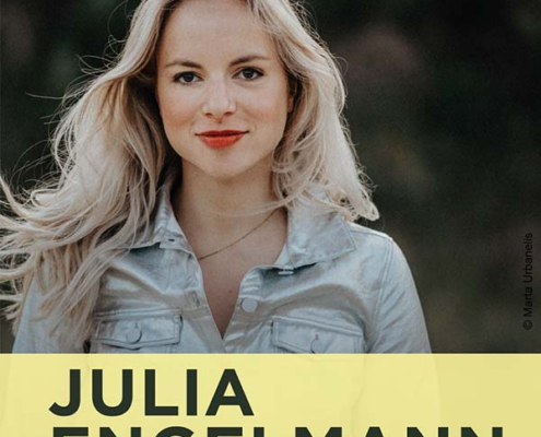 Plakatmotiv Julia Engelamnn - Glücksverkatert Poesie & Musik - Live 2022 in Bremen im Metropol Theater Bremen
