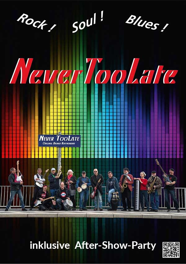 NeverTooLate – Rock! Soul! Blues!