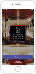 Bild iPhone mit Screenshot Bestellprozess Gastronomie | Metropol Theater Bremen