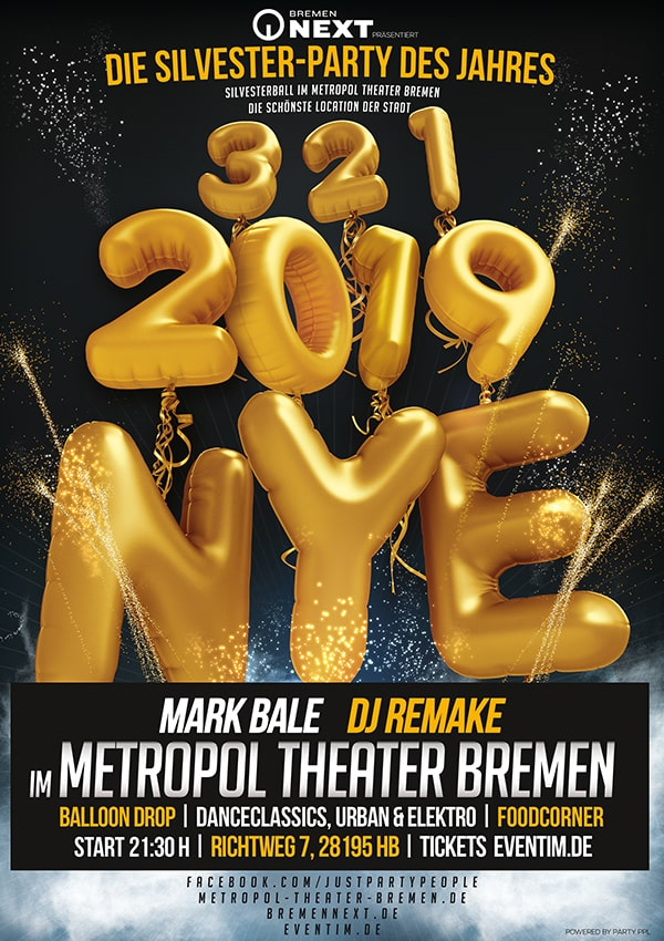 Silvesterball – New Years Eve im Metropol Theater Bremen