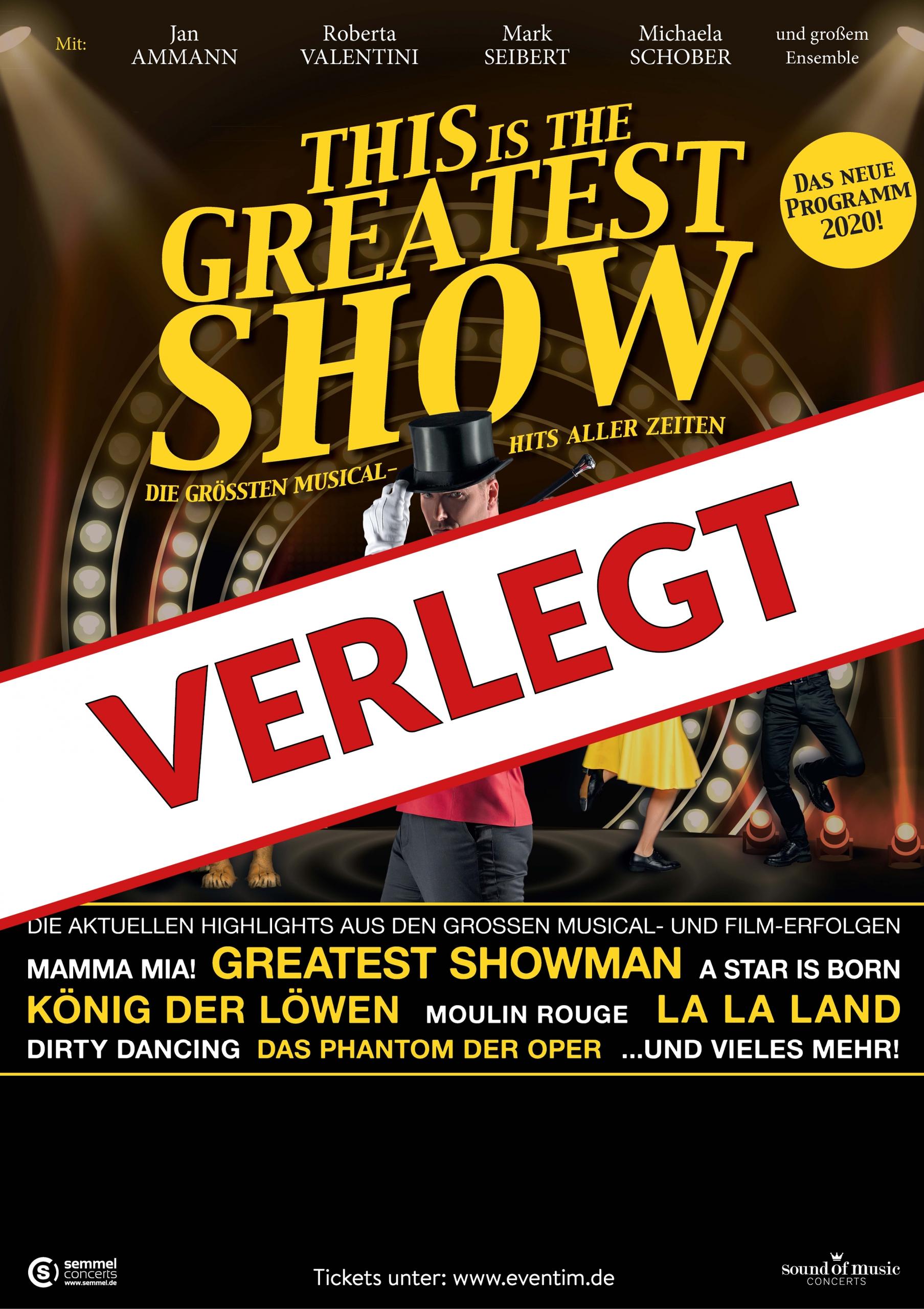 This is THE GREATEST SHOW – Die größten Musical Hits aller Zeiten – VERLEGT