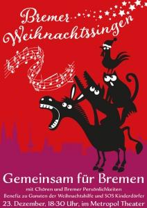 Plakatmotiv Bremer Weihnachtssingen 2019 im Metropol Theater Bremen