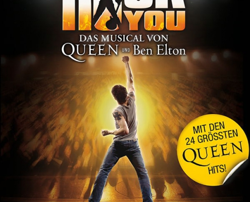 Plakatmotiv für Queen Rock-Musical We Will Rock You