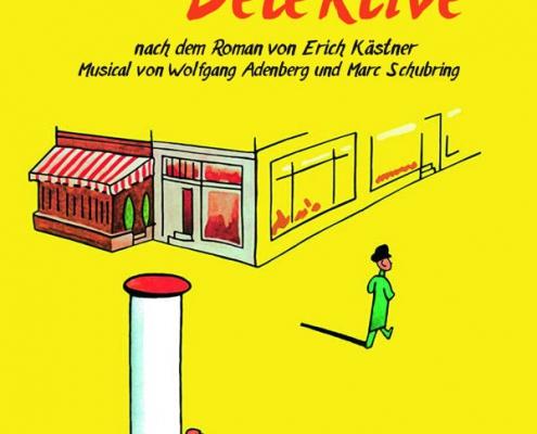 Plakatmotiv für das Musical für Kinder und Jugendliche ab 7 Jahre Emil und die Detektive im Metropol Theater Bremen