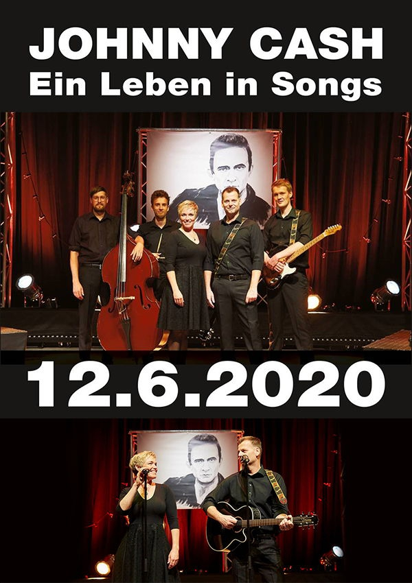 Plakat Motiv Johnny Cash im Metropol Theater Bremen 2020