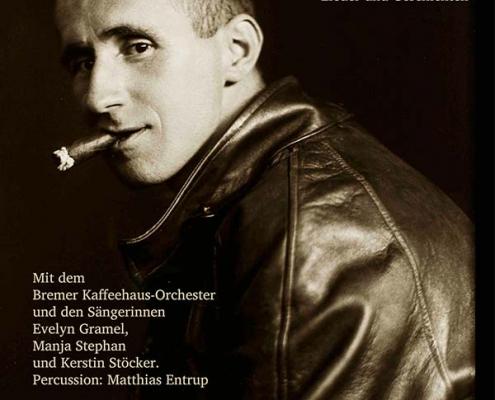 Plakatmotiv für Bremer Kaffeehaus Orchester Brecht Revue