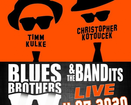 Plakatmotiv Blues Brothers & the Bandits im Metropol Theater Bremen