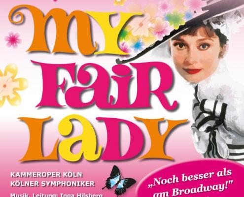 Plakatmotiv für Musical My Fair Lady von Alan Jay Lerner & Frederick Loewe in Bremen