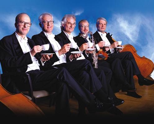 Plakatmotiv für Bremer Kaffeehaus Orchester Sommerkonzert
