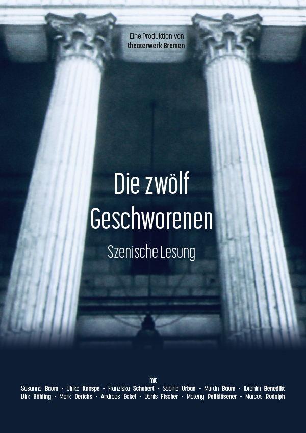 Plakatmotiv Die zwölf Geschworenen im Metropol Theater Bremen