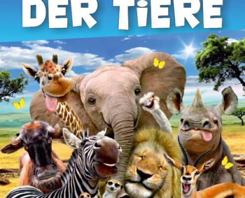 Plakatmotiv für Familienmusical Die Konferenz der Tiere in Bremen