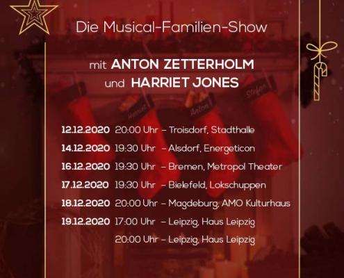 Plakatmotiv für das Musical Family Christmas in Bremen