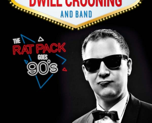 "Plakatmotiv für Dwill Crooning & Band – ""The Rat Pack Goes Nineties!"" Bremen 2021"