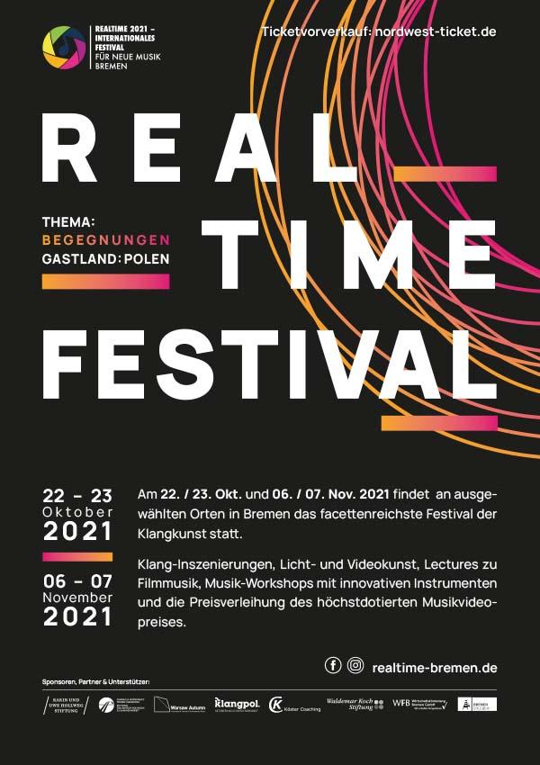 Plakatmotiv für Realtime Festival 2021 Bremen