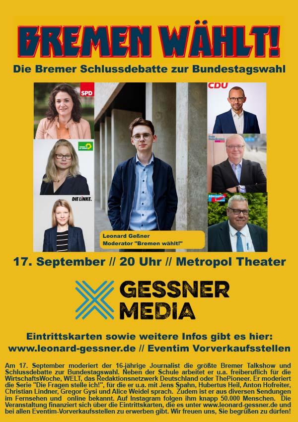 Bremen wählt! – Die Talkshow zur Bundestagswahl