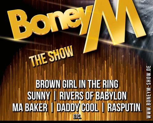 Keyvisual für BoneyM - The Show in Bremen